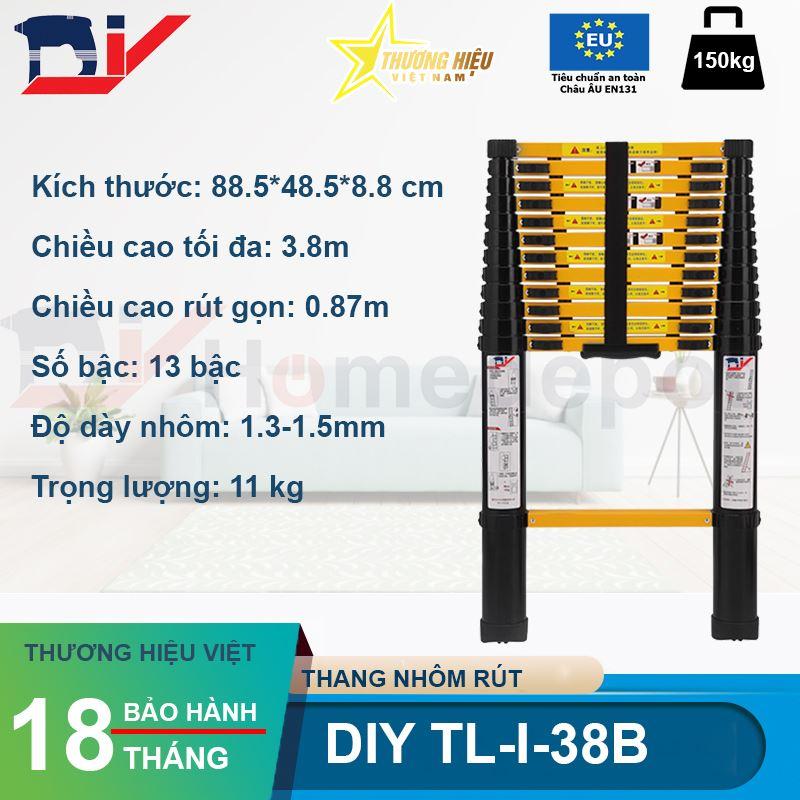 Thang nhôm rút đơn DIY TL-I-38B