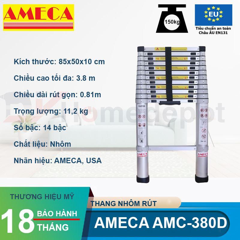 Thang xếp đơn đai nhôm Ameca AMC-380D