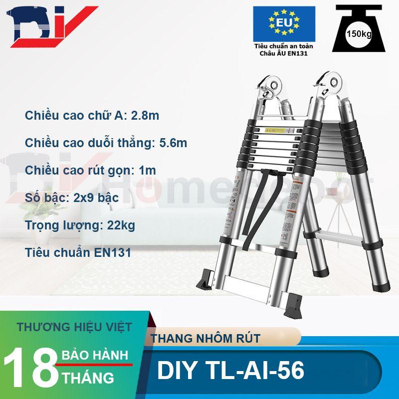 Thang nhôm rút đôi DIY TL-AI-56