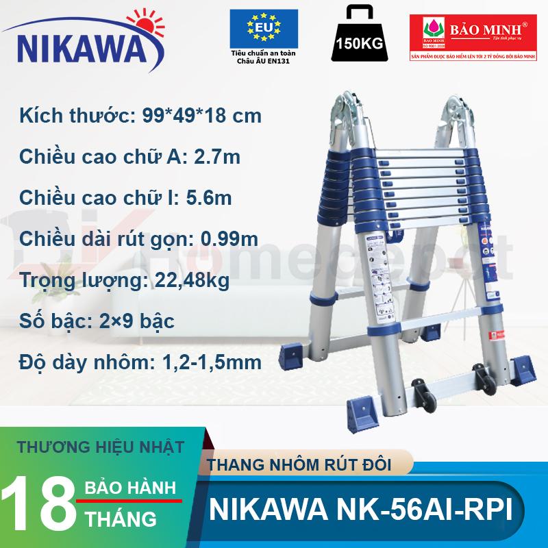 Thang nhôm rút đôi Nikawa Nk-56AI-PRI