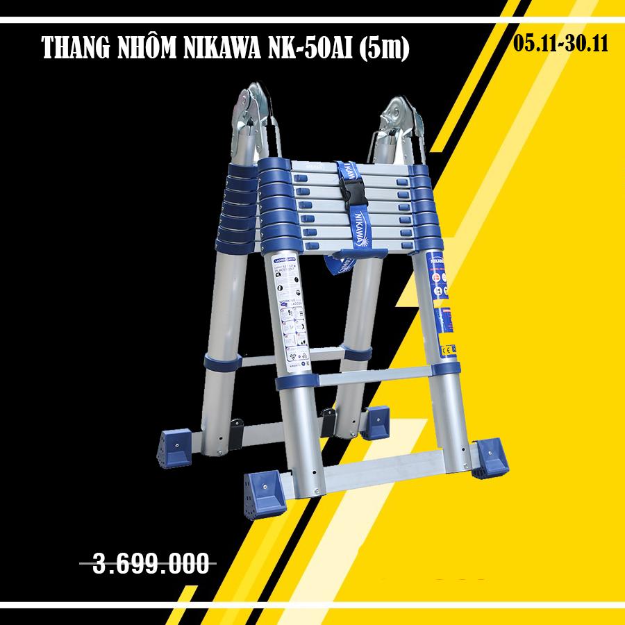 Thang nhôm rút đôi Nikawa NK-50AI-PRI