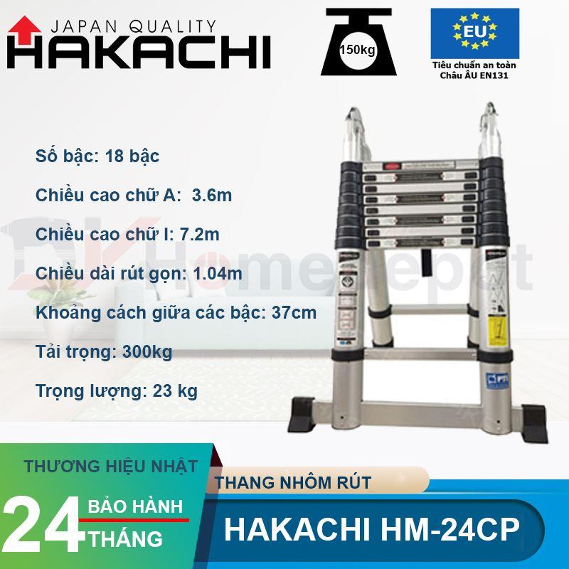 Thang nhôm rút đôi Hakachi HM-24CP