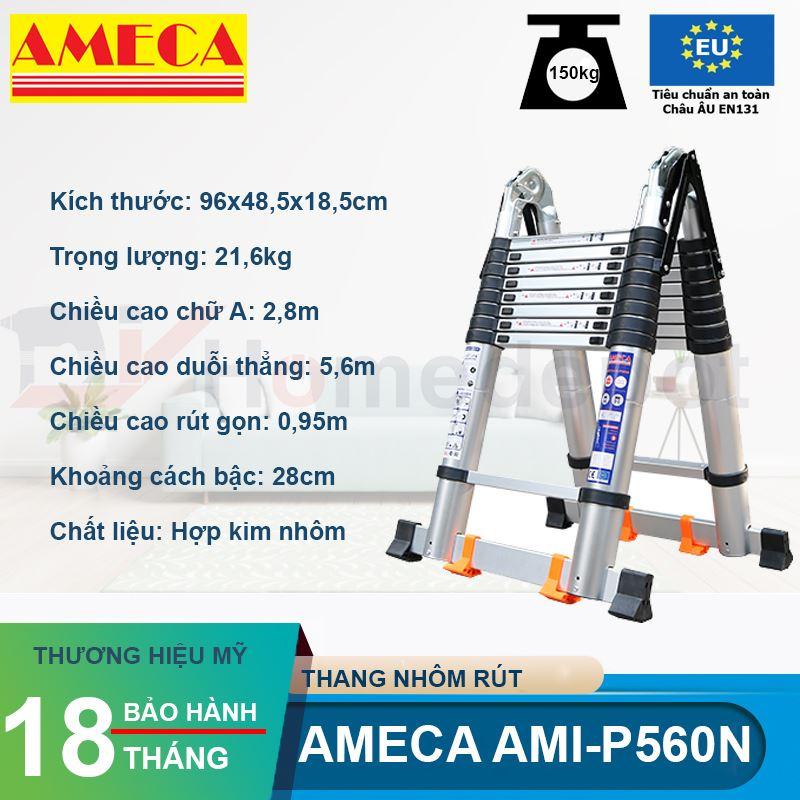 Thang Xếp Đôi Ameca AMI-P560N