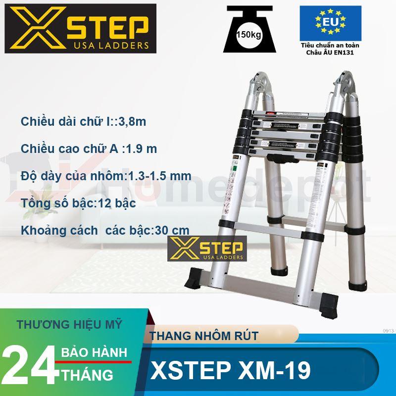 Thang nhôm rút đôi Xstep XM-19