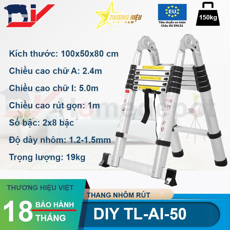 Thang nhôm rút đôi DIY TL-AI-50