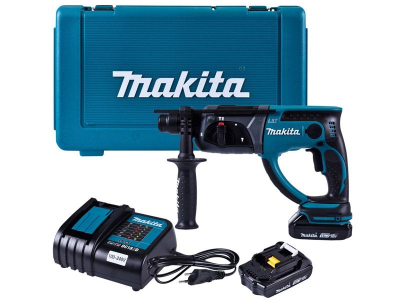 Máy khoan đục dùng pin Makita DHR202SYE