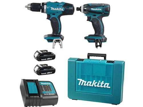 Bộ máy khoan bắt vít dùng pin Makita DLX2022 18V (DDF453 + DTD146)
