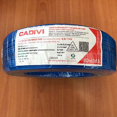 Dây điện đôi Cadivi VCmd 2x1.5 - 0,6/1kV
