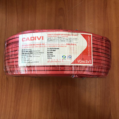 Dây Điện Cadivi VCmo 2x1.0 - 450/750V