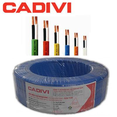 Dây điện đôi Cadivi VCmd 2x0.5 - 0,6/1kV