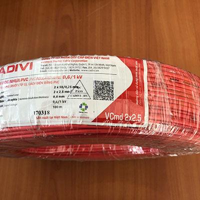 Dây điện đôi Cadivi VCmd 2x2.5 - 0,6/1kV