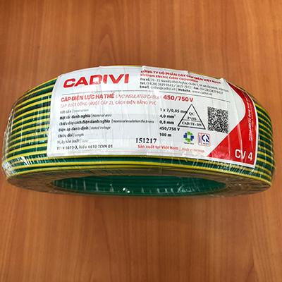 Dây điện đơn Cadivi CV 4.0 - 0,6/1kV