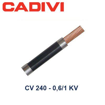 Dây Điện Đơn Cadivi CV 240 - 0,6/1 KV