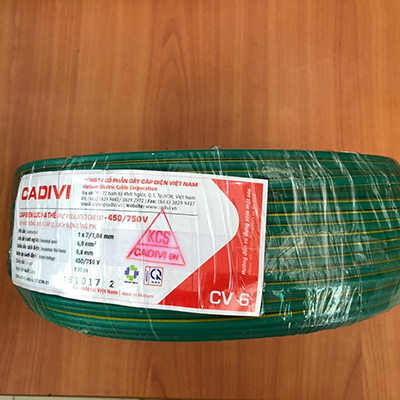 Dây Điện Đơn Cadivi CV 6.0 - 0,6/1kV