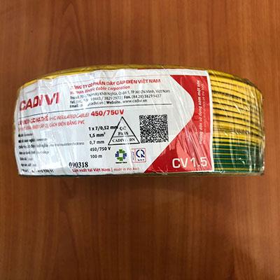 Dây Điện Đơn Cadivi CV 1.5 - 0,6/1kV
