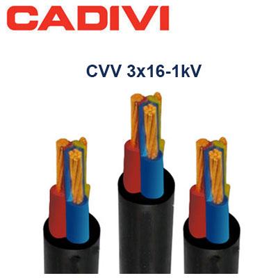 Dây Cáp Điện Cadivi CVV-3x16 - 0,6/1 KV