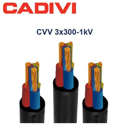 Dây Cáp Điện Cadivi CVV-3x300 - 0,6/1 KV