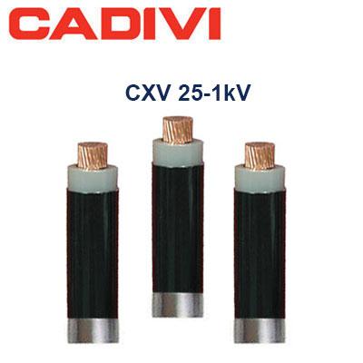Dây Cáp Điện Cadivi CXV-25 - 0,6/1 KV