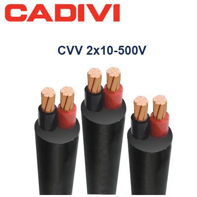 Dây Điện Đôi Cadivi CVV-2x10 - 500V