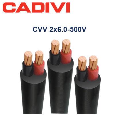 Dây Điện Đôi Cadivi CVV-2x6.0 - 500V
