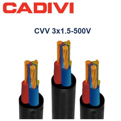 Dây Cáp Điện Cadivi CVV-3x1.5 - 500V