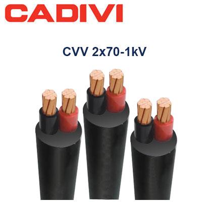 Dây Điện Đôi Cadivi CVV-2x70 - 0,6/1 KV