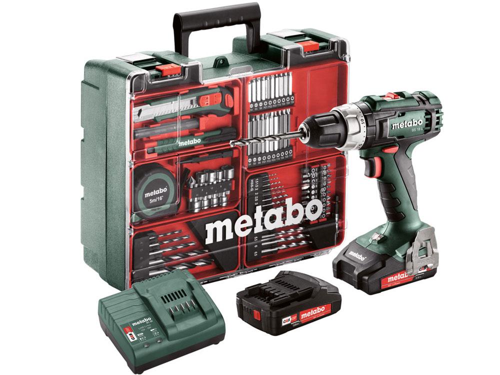 Máy khoan vặn vít dùng pin Metabo BS 18 set