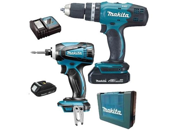 Bộ sản phẩm máy khoan, máy vặn vít Makita DLX2240