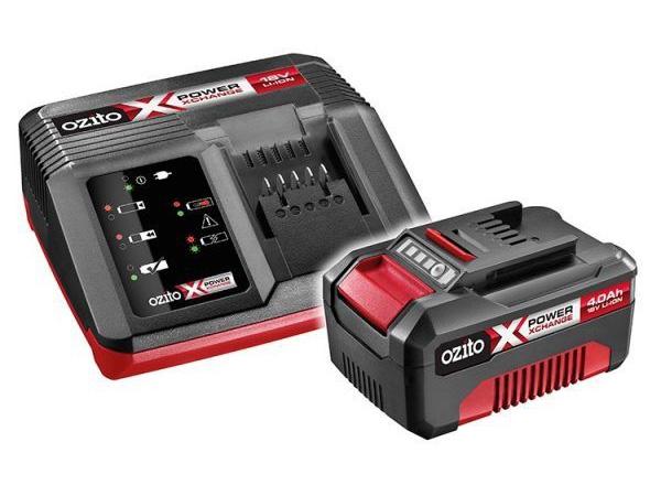 Bộ pin 18V Lithium 4Ah và sạc nhanh Ozito PXBC-004