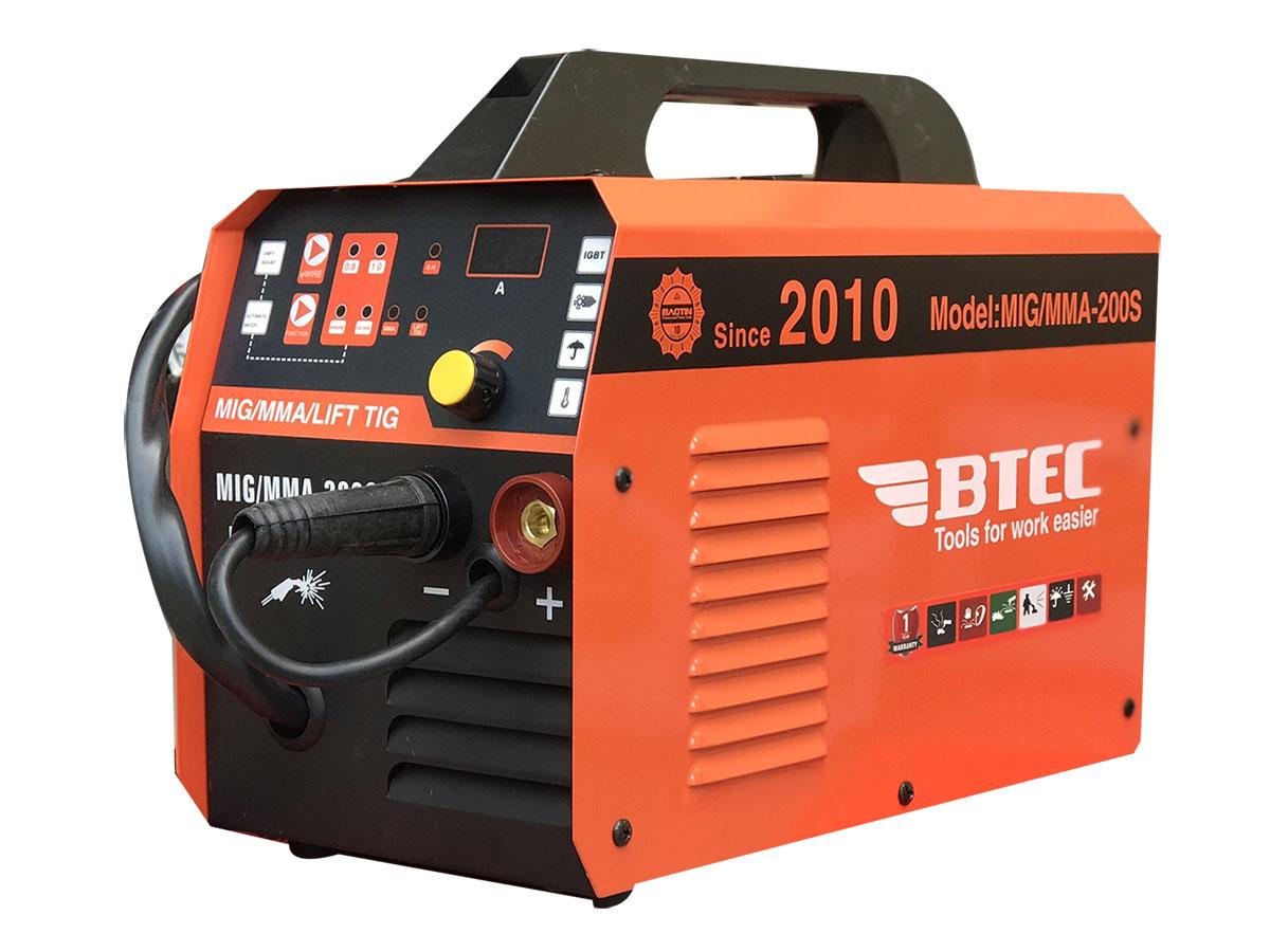 Máy hàn Mig không dùng khí Btec MIG/MMA 200S