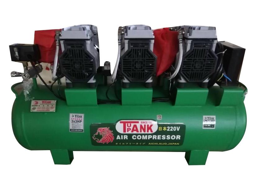 Máy nén khí không dầu, giảm âm TAK-110 (110 lít, 3HP x 3)