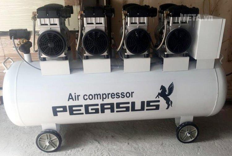 Máy nén khí không dầu, giảm âm Pegasus TM-OF1100x4-330L (6HP)