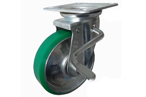 Bánh xe đẩy PU xoay có khóa Ethos 663PUZ100JB01 (250kg)