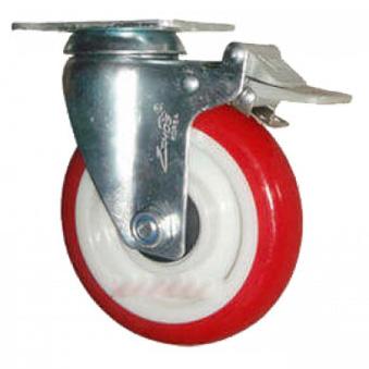 Bánh xe đẩy PU xoay có phanh Ethos 273URY150P01 (150kg)