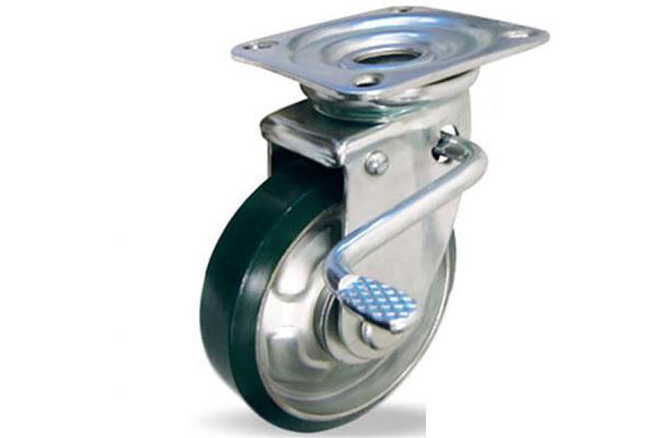 Combo 2 bánh xe đẩy PU xoay Ethos 663PUZ075JB1 (Có khóa - 180kg)