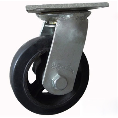 Combo 2 bánh xe đẩy cao su xoay Ethos 491XRQ100P45 (180kg)