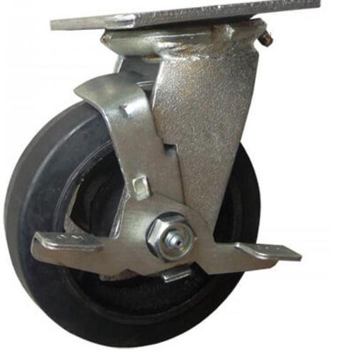 Combo 2 bánh xe đẩy cao su xoay có khóa Ethos 494XRQ125P45 (205kg)