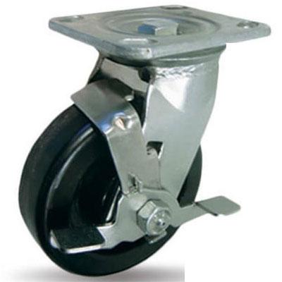 Bánh xe phenolic chịu nhiệt xoay Ethos 494XHQ100P45 (Có khóa - 320kg)