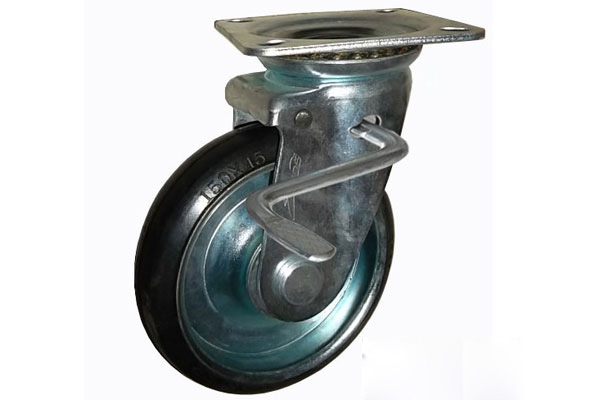 Bánh xe đẩy cao su xoay có khóa Ethos 663PRZ130JB1 (240kg)