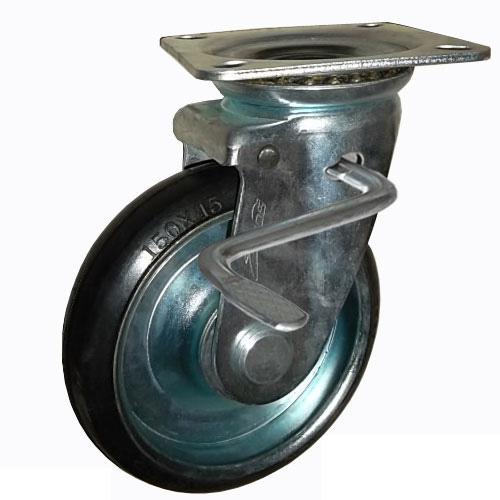 Combo 2 bánh xe đẩy cao su xoay có khóa Ethos 663PRZ100JB1 (160kg)