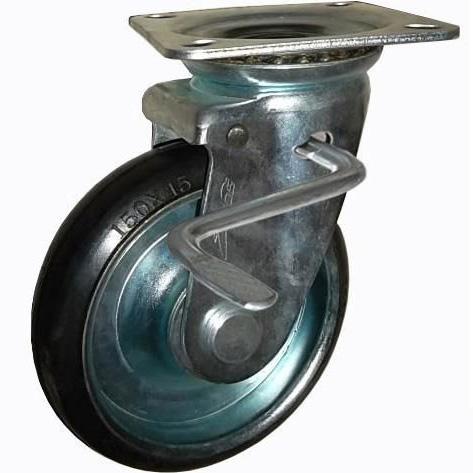 Bánh xe đẩy cao su xoay có khóa Ethos 663PRZ150JB1 (200kg)