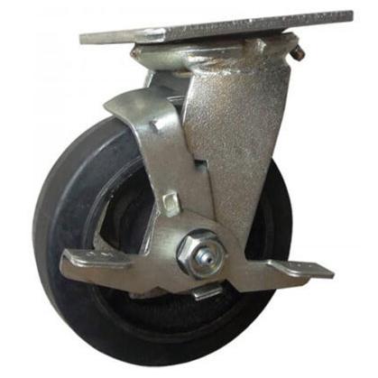 Combo 2 bánh xe đẩy cao su xoay Ethos 494XRQ160P45 (Có khóa - 227kg)