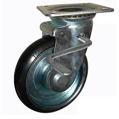 Bánh xe đẩy cao su xoay có khóa Ethos 663PRZ200JB1 (350kg)
