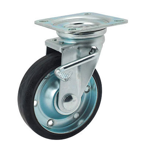 Bánh xe đẩy cao su xoay có phanh Nansin STM-150 VS W-3R (200kg)