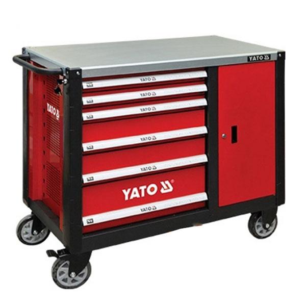 Tủ đựng đồ nghề 6 ngăn mặt trên bằng thép Yt-09002