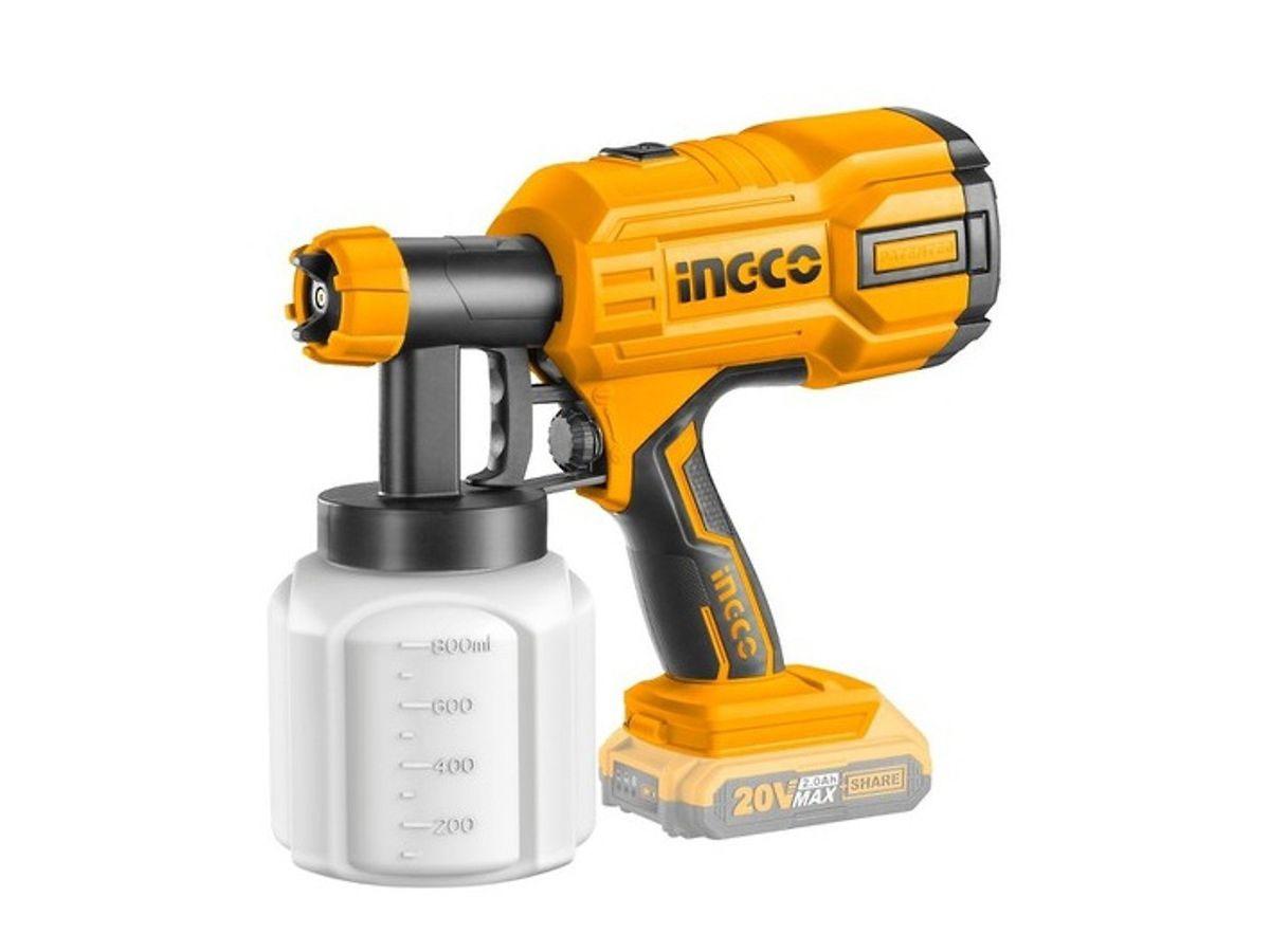 Súng phun sơn dùng pin INGCO CSGLI2001 (Không pin và sạc)