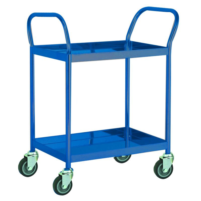 Xe đẩy hàng thép xanh 2 tầng Happy Move 100kg