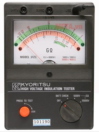 Máy đo điện trở cách điện Kyoritsu 3123