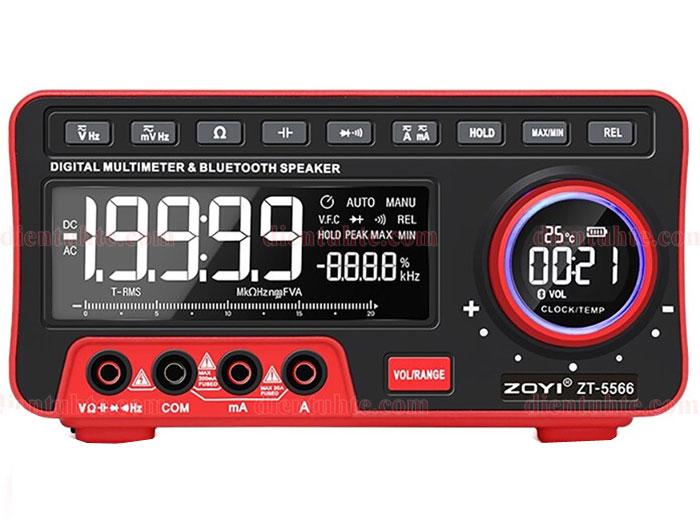 Đồng hồ vạn năng số để bàn kiêm loa Bluetooth Zoyi ZT-5566