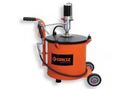 Thiết bị bơm mỡ bằng khí nén có bình 30kg Groz BGRP 30
